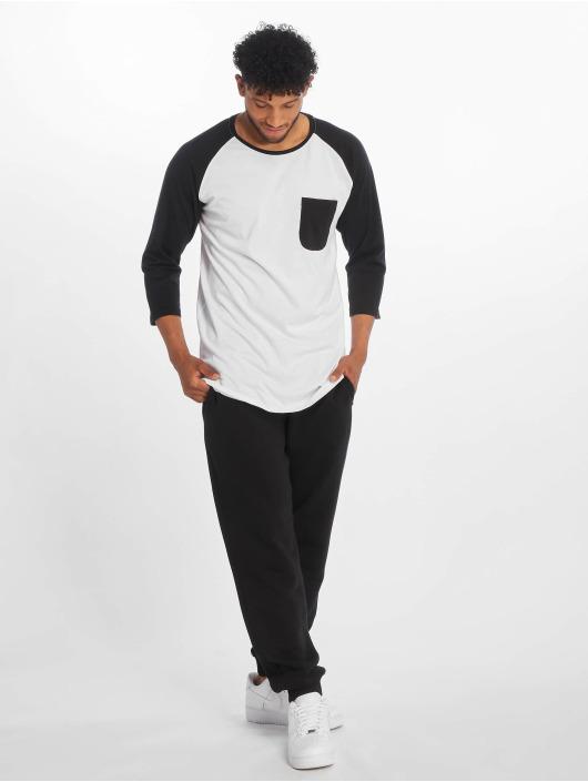 Urban Classics Longsleeve Long Raglan 3/4 Sleeve Pocket white