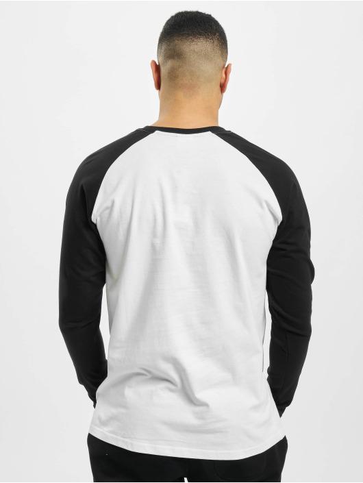 Urban Classics Longsleeve Contrast Raglan Henley white