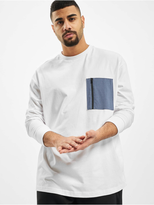 Urban Classics Longsleeve Boxy Big Contrast Pocket white
