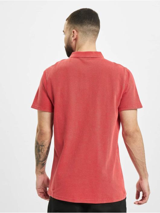 Urban Classics Poloshirt Garment Dye Pique red