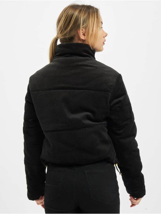 Urban Classics Puffer Jacket Ladies Corduroy black