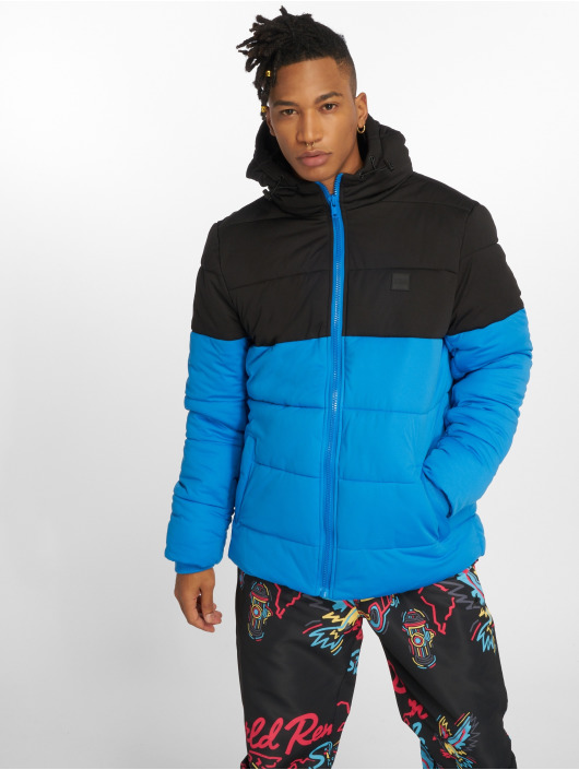 Urban Classics Puffer Jacket Hooded 2-Tone blue