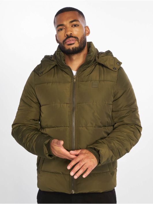 Urban Classics Puffer Jacket Hooded Puffer olive