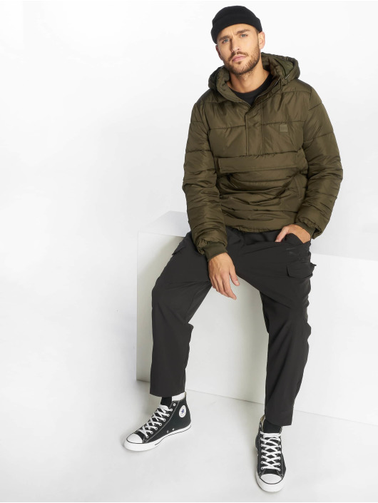 Urban Classics Puffer Jacket Pull Over olive