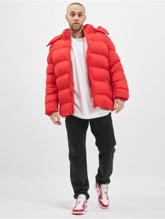 Urban Classics Puffer Jacket Hooded Boxy Puffer red