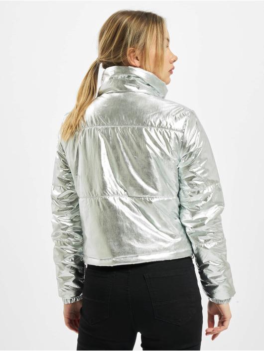 Urban Classics Puffer Jacket Ladies Metalic silver