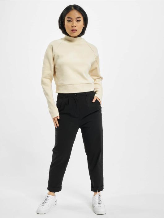 Urban Classics Pullover Ladies Interlock Short Turtleneck Crew beige