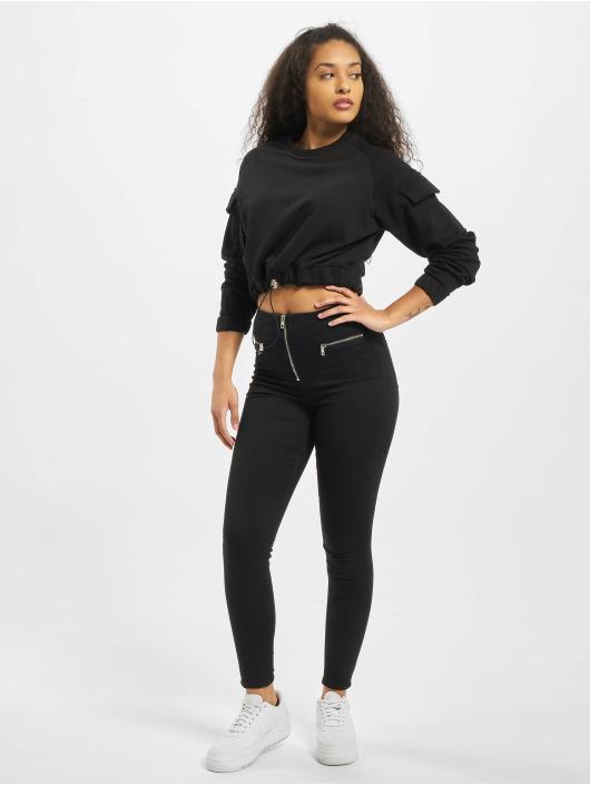 Urban Classics Pullover Ladies Short Worker Crewneck black