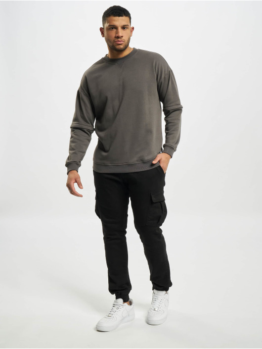 Urban Classics Pullover Zip Away Oversized Terry Crew black