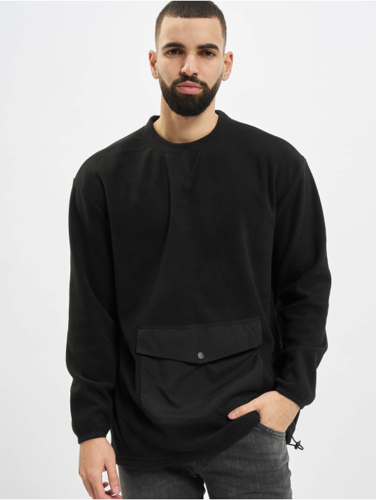 Urban Classics Pullover Polar Fleece Pocket Crew black