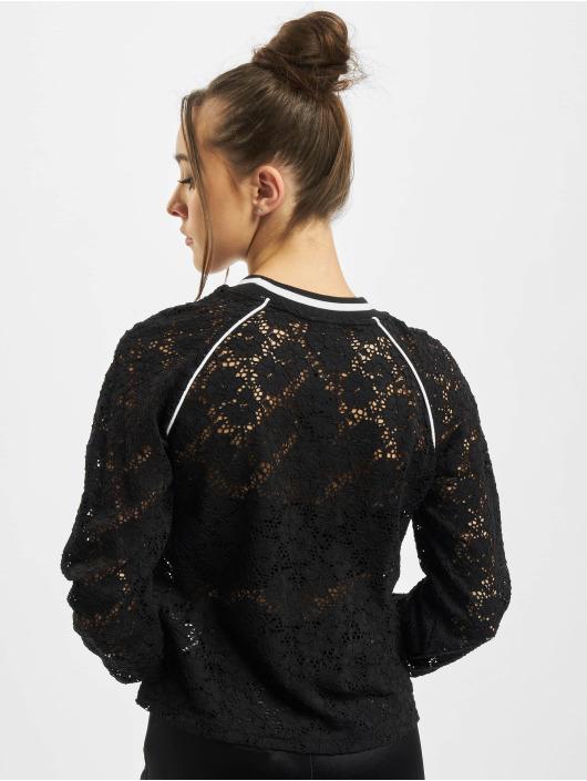 Urban Classics Pullover Ladies Short Lace College Crew black