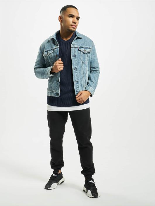 Urban Classics Pullover Cardigan Stitch blue