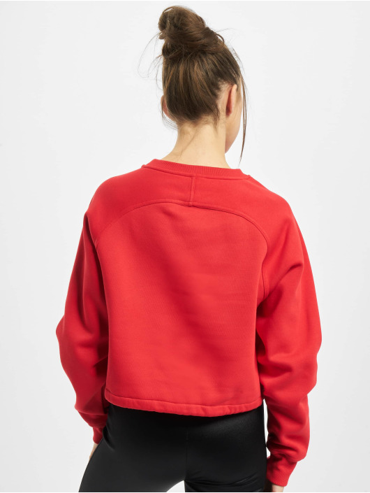 Urban Classics Pullover Ladies Oversized Short Raglan red