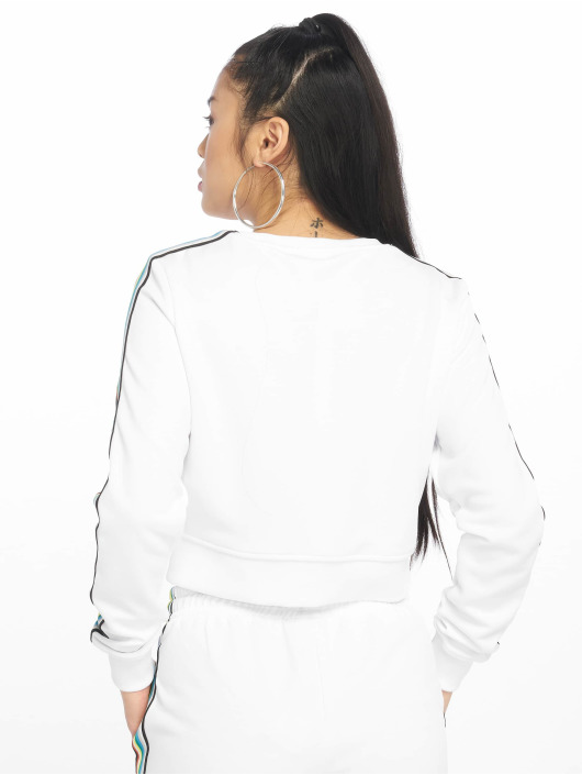 Urban Classics Pullover Multicolor Taped Sleeve white