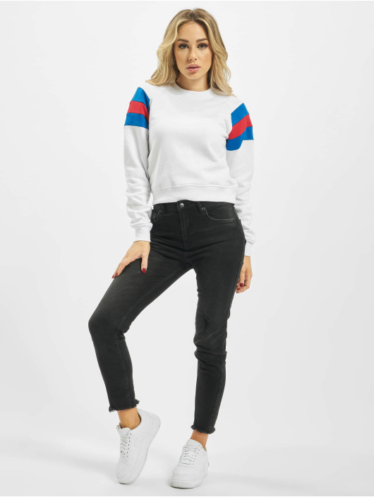 Urban Classics Pullover Sleeve Strip white