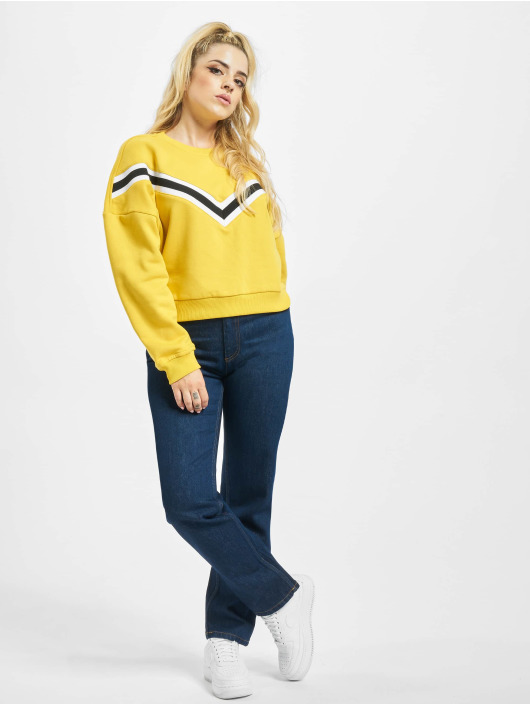Urban Classics Pullover Inset Striped yellow