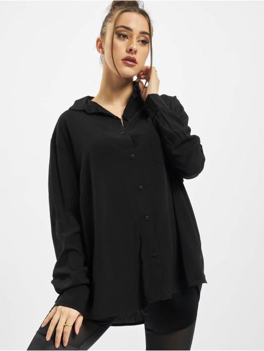 Urban Classics Shirt Viscose Oversize black