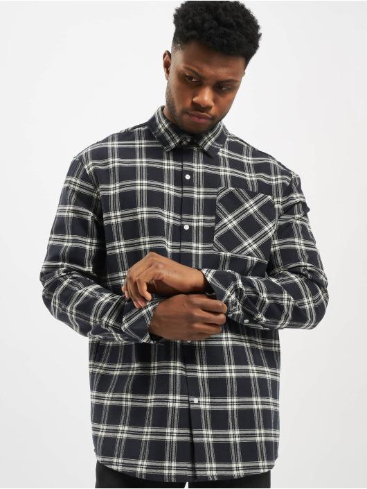 Urban Classics Shirt Oversized Check blue