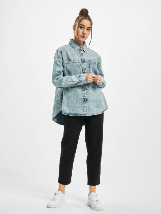 Urban Classics Shirt Oversized blue