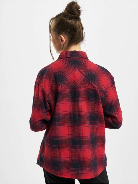 Urban Classics Shirt Ladies Check blue