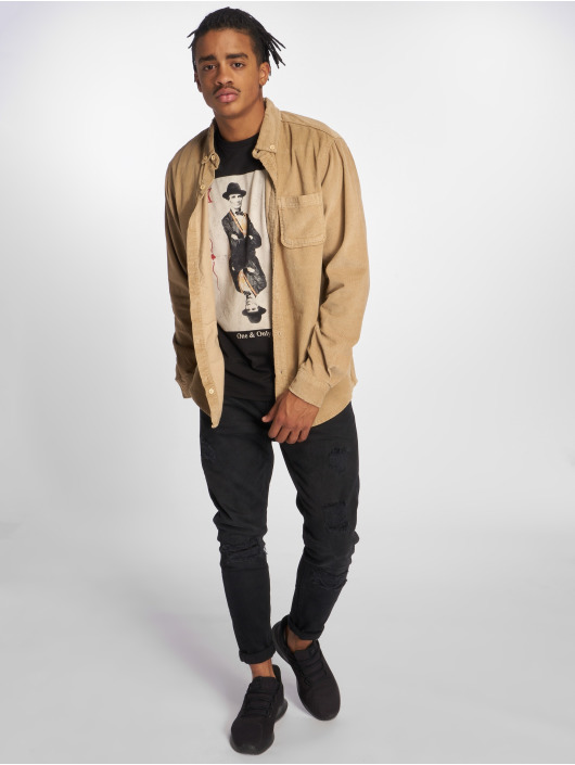 Urban Classics Shirt Classics brown