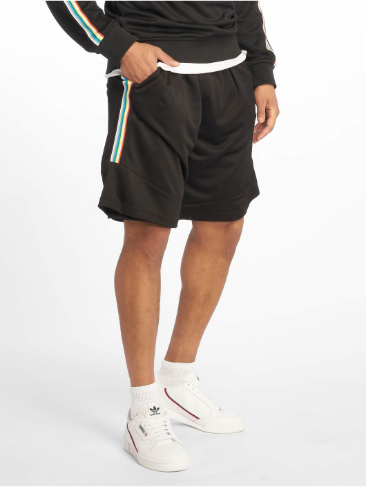 Urban Classics Short Side Taped Mesh black