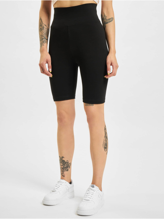 Urban Classics Short Ladies High Waist Cycle 2-Pack black