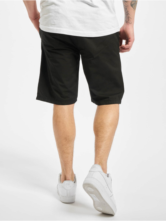 Urban Classics Short Straight Leg Chino With Belt black