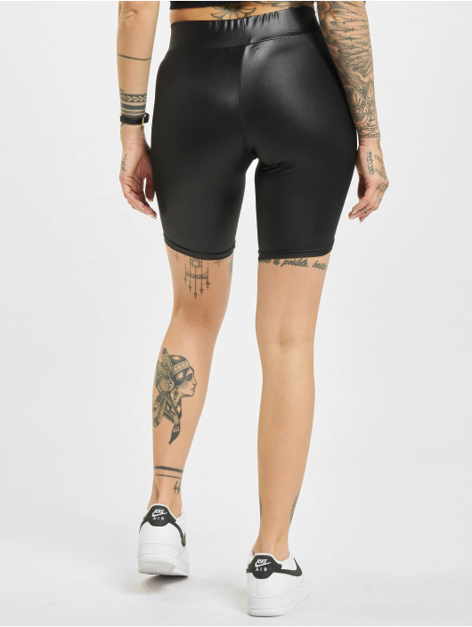 Urban Classics Short Imitation Leather Cycle black