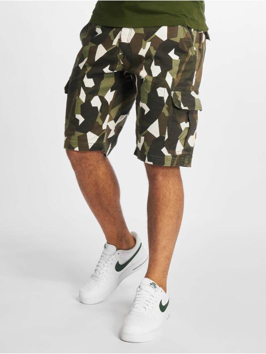 Urban Classics Short Geometric Stretch Twill camouflage