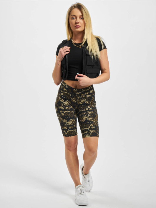 Urban Classics Short Ladies High Waist Camo Tech Cycle camouflage