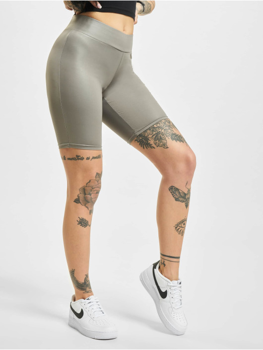 Urban Classics Short Imitation Leather Cycle gray