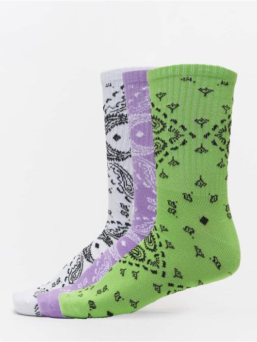 Urban Classics Socks Bandana Pattern 3-Pack white