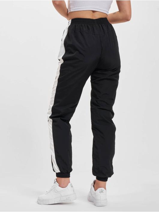 Urban Classics Sweat Pant Striped Crinkle black