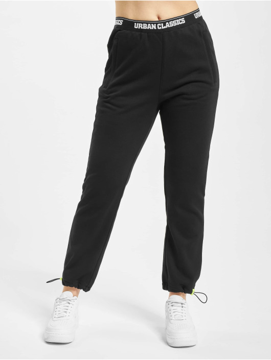Urban Classics Sweat Pant Logo Waistband black