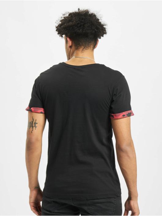 Urban Classics T-Shirt Camo Contrast Pocket black