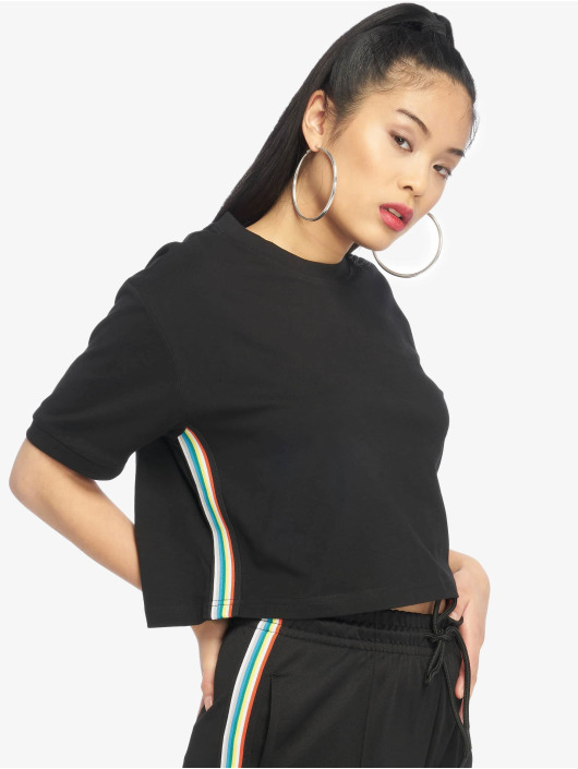 Urban Classics T-Shirt Multicolor Side Taped black