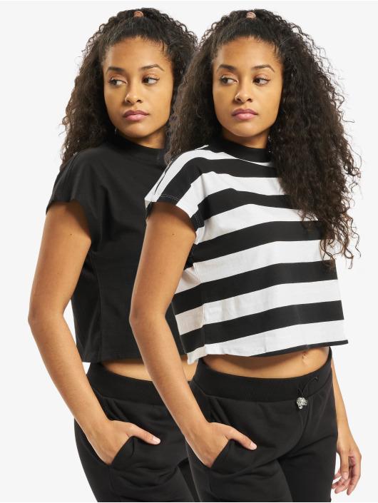 Urban Classics T-Shirt Stripe Short 2-Pack black