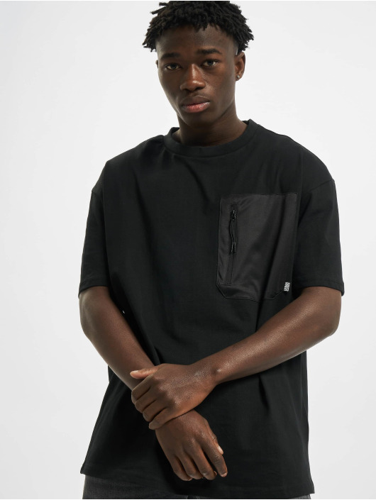 Urban Classics T-Shirt Oversized Big Pocket black