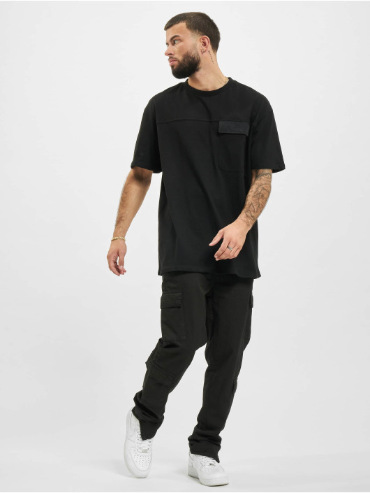 Urban Classics T-Shirt Oversized Big Flap Pocket black