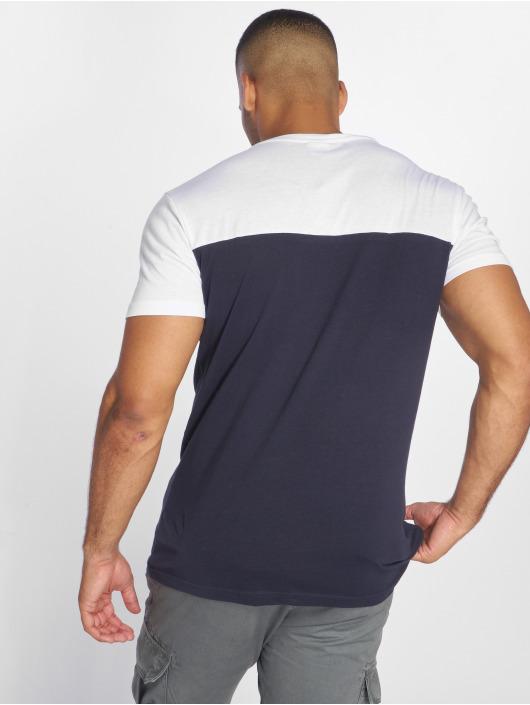 Urban Classics T-Shirt 3-Tone Pocket blue
