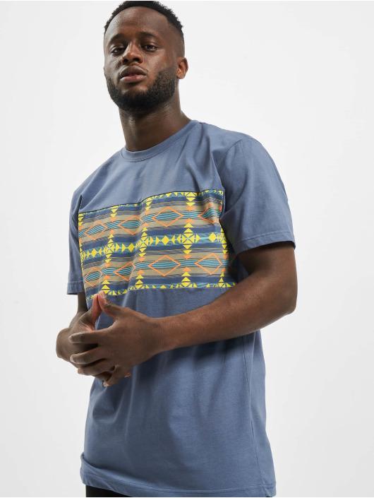 Urban Classics T-Shirt Inka Pattern blue