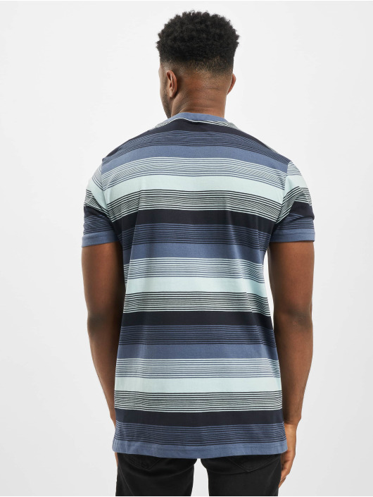 Urban Classics T-Shirt Yarn Dyed Sunrise Stripe blue