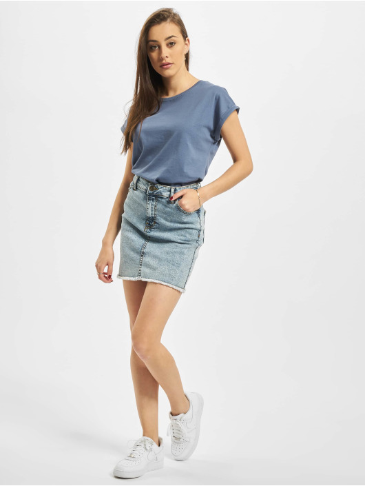 Urban Classics T-Shirt Extended Shoulder blue