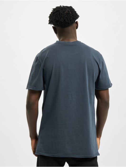 Urban Classics T-Shirt Open Edge Pigment Dyed Basic blue