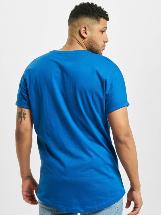 Urban Classics T-Shirt Long Shaped Turnup blue