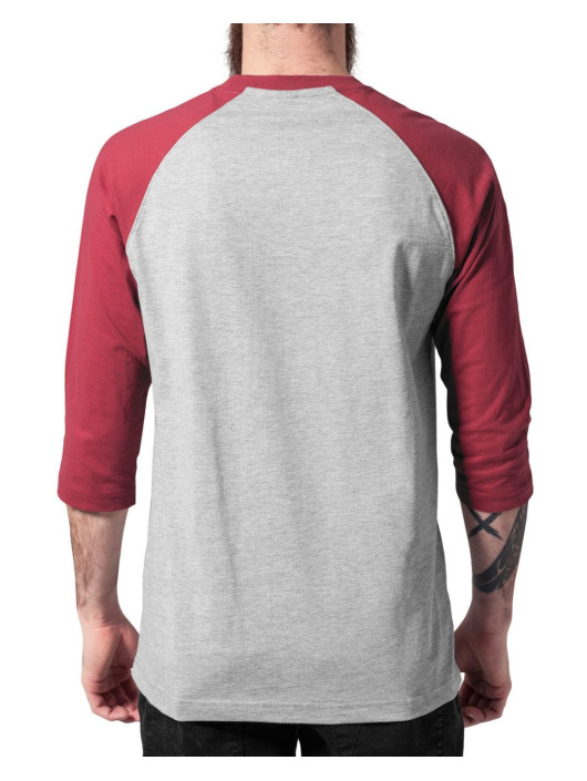 Urban Classics T-Shirt Contrast 3/4 Sleeve Raglan gray