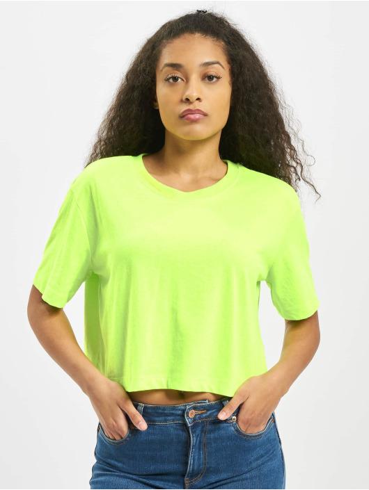 Urban Classics T-Shirt Ladies Short Oversized Neon green