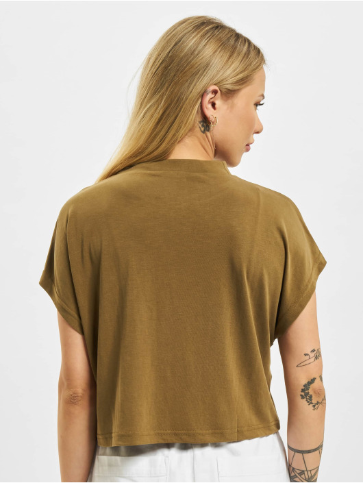 Urban Classics T-Shirt Ladies Modal Short olive