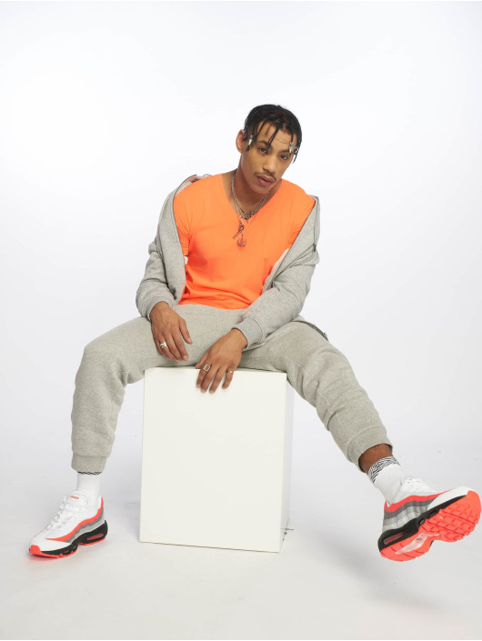 Urban Classics T-Shirt Neon V-Neck orange